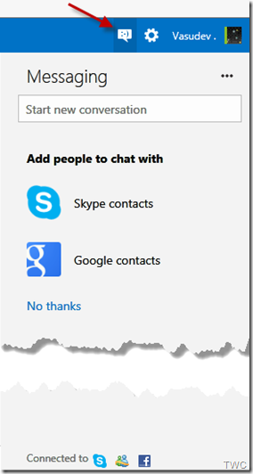 Configurando Chat en Outlook.com 1