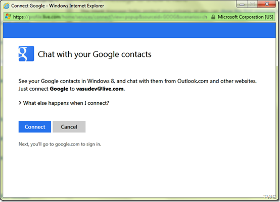 Configurando Chat en Outlook.com 2