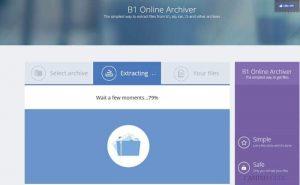 B1 Online Archiver: Cómo descomprimir archivos online gratis