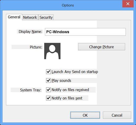 Any Send, programa para compartir archivos en red WiFi