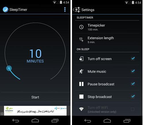 Sleep Timer: Detiene la Música Automáticamente y Pone a Dormir el Dispositivo Android
