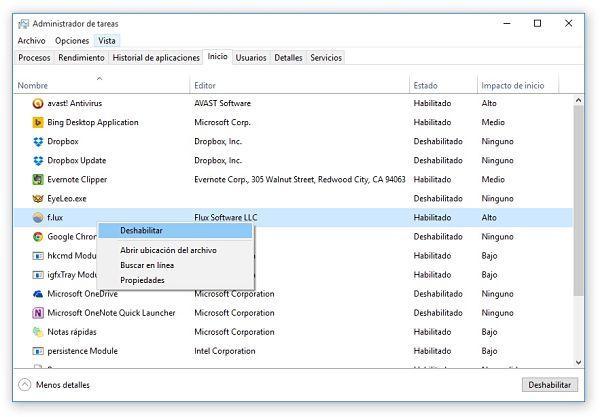 Cómo desactivar programas en el inicio de Windows 10, 8.1 y 7