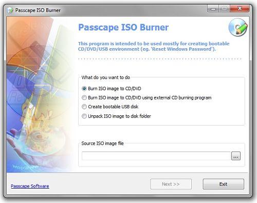 Passcape ISO Burner: Aplicación Portable para Quemar Archivos ISO en Windows