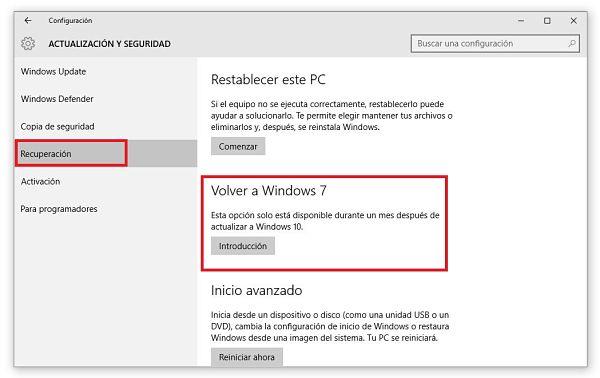 Desinstalar Windows 10 y volver a Windows 7 ó 8