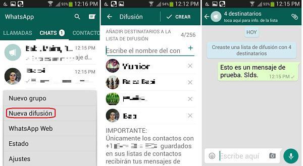 Tips y trucos de WhatsApp: enviar mensajes de difusión