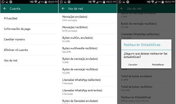 Tips y trucos de WhatsApp: Uso de red