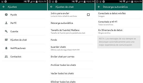 Tips y trucos de WhatsApp: descarga automática de multimedia