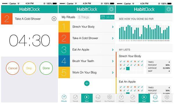 HabitClock: Desarrolla buenos hábitos, mejora rutina mañanera y aumenta tu productividad