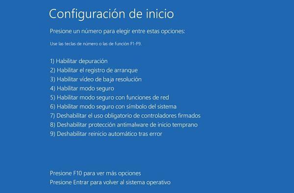 Iniciar Windows 10 en modo seguro