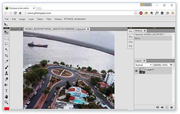 Photopea: Una aplicación web para abrir archivos PSD sin necesidad de instalar ningún programa