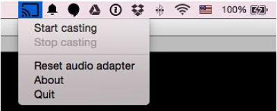 Transmitir audio a Chromecast desde Mac