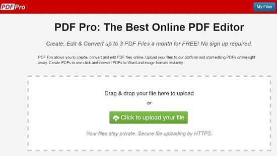 pdf-pro: uno de los mejores servicios para editar archivos PDF online