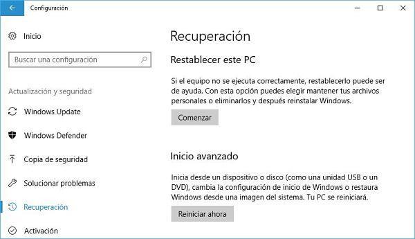 Restaurar el registro de Windows 10 a valores por defecto.