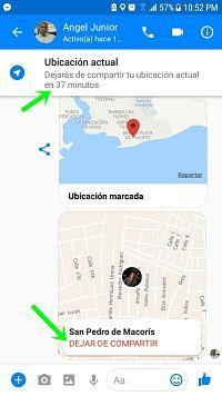 Cómo mandar ubicación en tiempo real por Facebook Messenger.