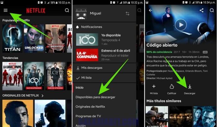 Cómo descargar películas y series para ver en Netflix sin Internet
