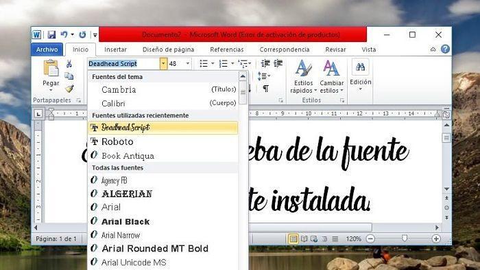 Cómo descargar e instalar fuentes para Word