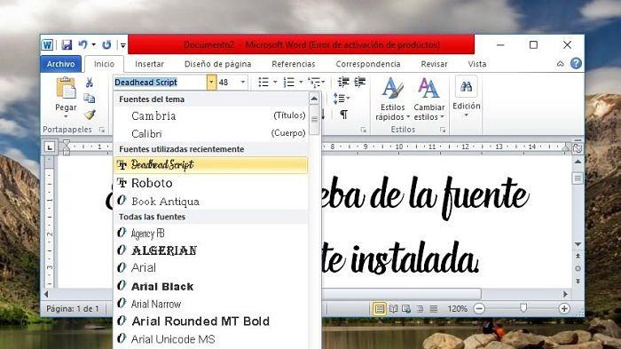 Cómo descargar e instalar fuentes para Word en Windows 10