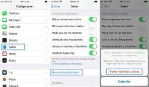Cómo borrar tu historial de navegación en el iPhone