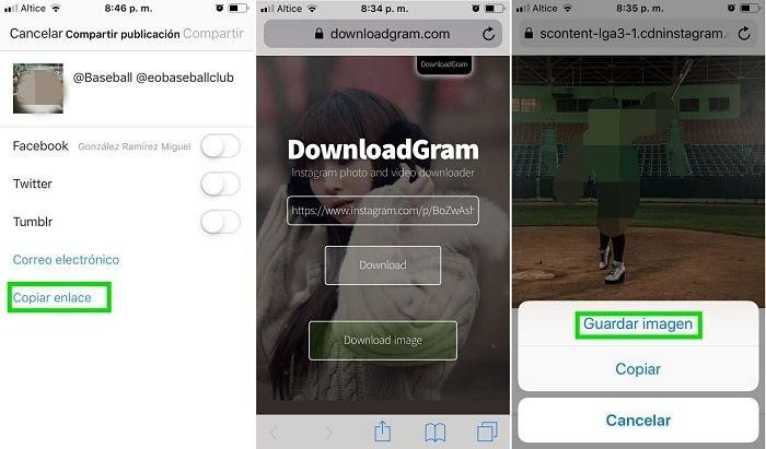 Descargar fotos de Instagram online en la PC y el celular