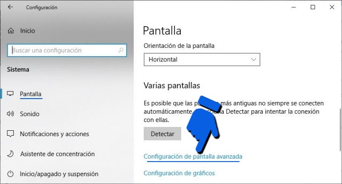 Cómo saber qué monitor tengo en Windows 10.