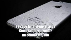 Cómo arreglar un celular mojado y evitar que vuelva a pasar