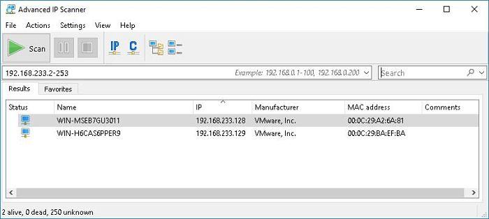 Advanced IP Scanner: programas para administrar redes