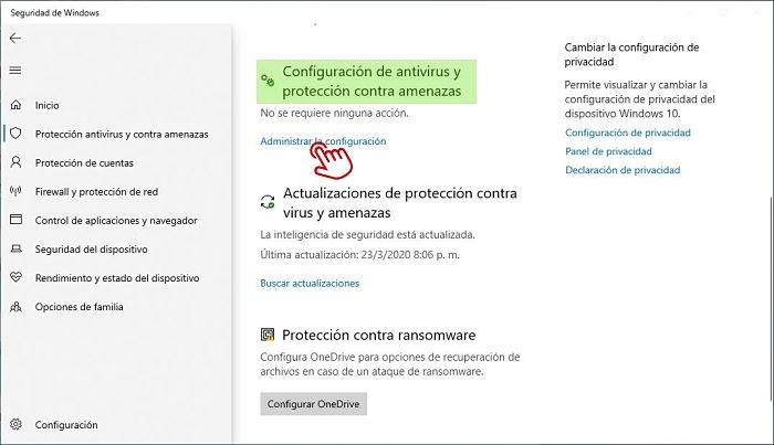 Cómo desactivar Windows Defender