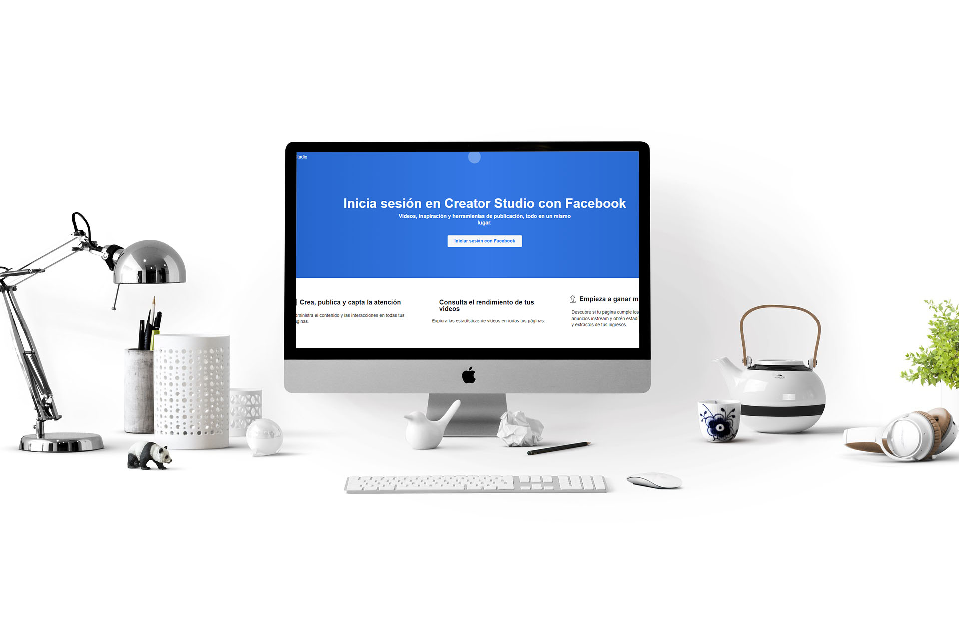 Publicar y ver estadísticas en Facebook y  Instagram con Creator Studio
