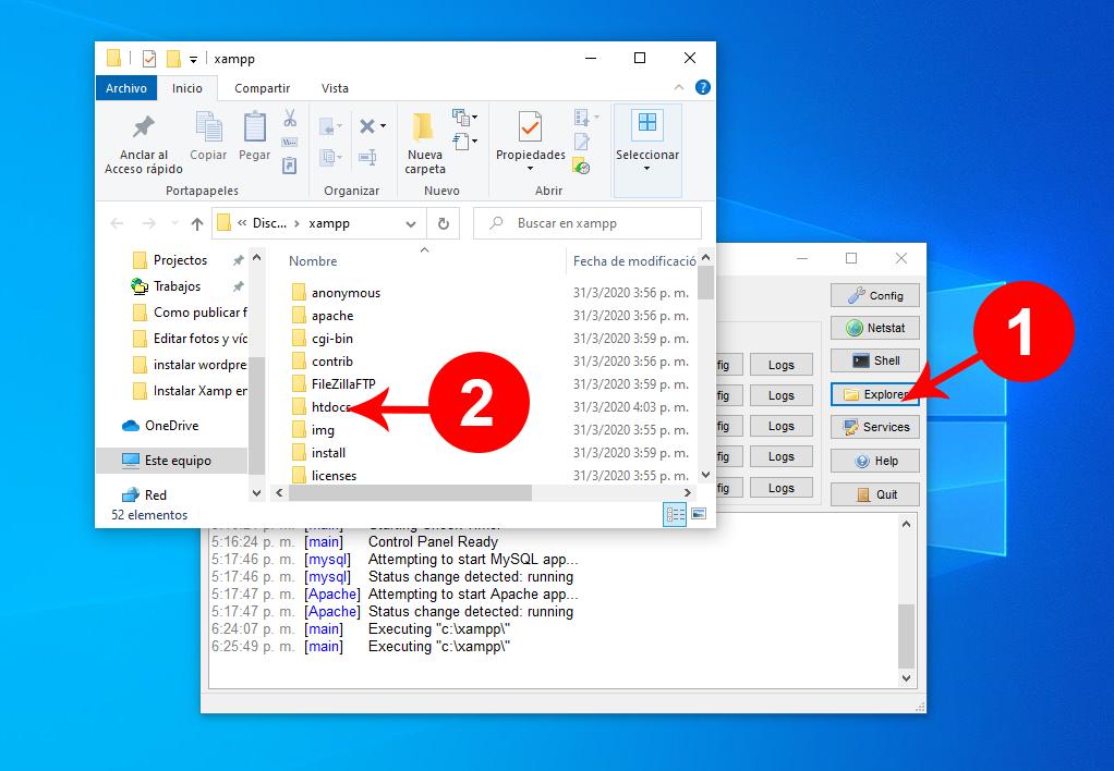 Instalar WordPress en servidor local Windows 10